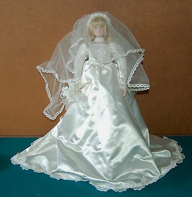 Precious Moments Bride Doll in Gown By Applause