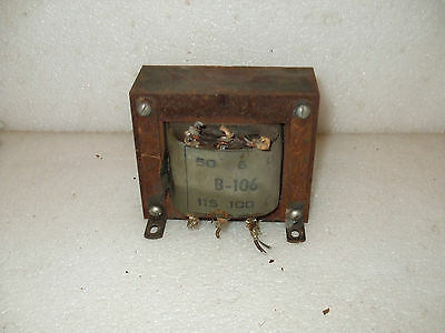 1950`s  UNITED (UMC) BALL BOWLER OR PUCK SHUFFLE ALLEY TRANSFORMER B-106 TESTED