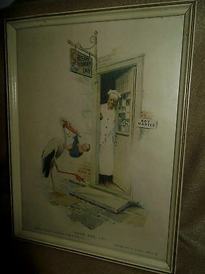 """Cream of Wheat """"Here You Are"""" Framed Print 1917"""