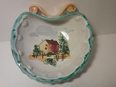 VINTAGE CANDY - TRINKET -  SOAP DISH  - Bowl HAND CRAFTED&PAINTED  MADE IN ITALY