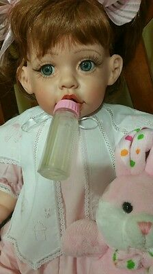 "26""SOFT AS A  ROSE VINYL DOLL BY FAYZAH SPANOS"