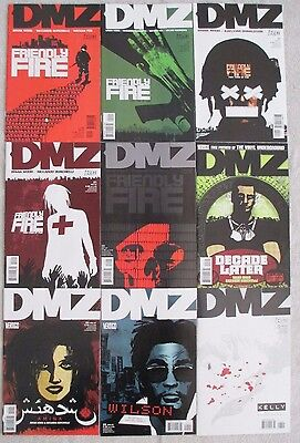 DMZ -Lot of 9- #18, 19, 20, 21, 22, 23, 24, 25, and 26 by Brian Wood (Massive)
