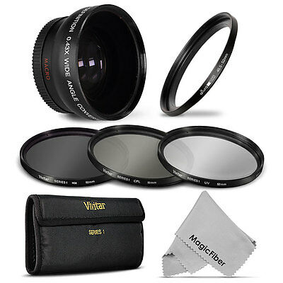 Wide Angle Lens + UV CPL ND Filter Kit for Nikon 1 J1 J2 S2 V1 V2