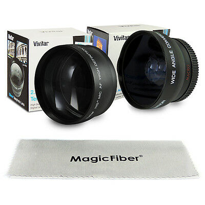 58MM 0.43X Wide Angle + 2.2X Telephoto Lens for Canon EOS 700D 650D 600D 100D