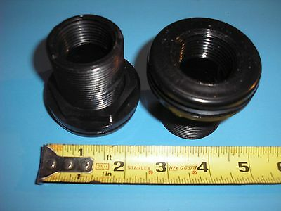 "1"" Bulkhead Fitting Thread x Thread - High Quality PVC - requires 1 3/4"" hole"