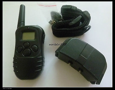 Remote 100 Level LCD Dogs Training Shock Vibrate Collar