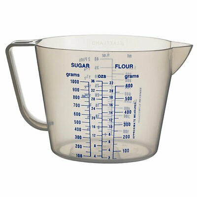 Lakeland Value Clear Plastic Kitchen Measuring Jug & Handle (Holds 1000ml)