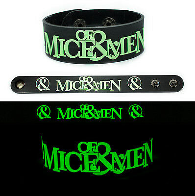 OF MICE AND MEN Rubber Bracelet Wristband Glows in the Dark v2