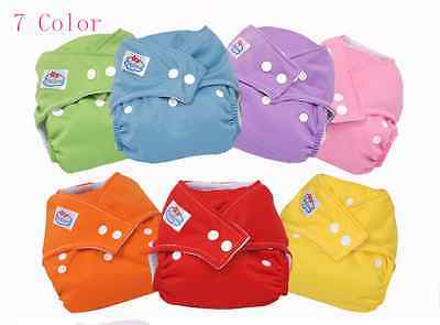 2015 New adjustable reusable washable baby cloth diapers 1pcs