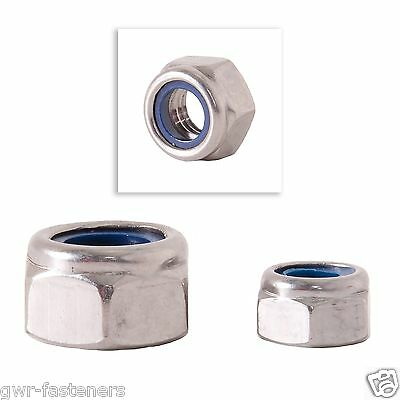 """3/8"""" UNF Nyloc Insert Nuts - BZP - 25 Pack"""