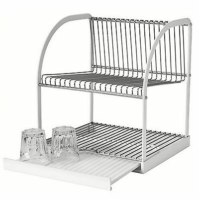 NEW IKEA Dish Rack Drainer Sink Cutlery Drying Holder Dryer Tray Kitchen Kit