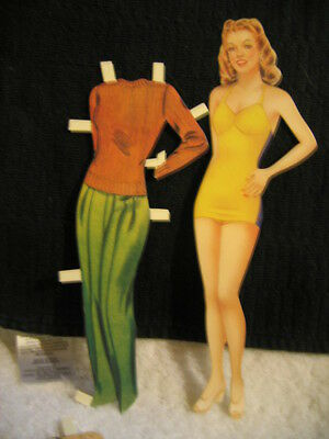 1999 ANN SHERIDAN COLLECTOR'S CUTOUT PAPER DOLL BY B. SHACKMAN-NEW
