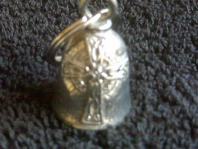 Pewter Bell Celtic Cross Gift Bag & Legend Christian Motorcycle Travel Accessory