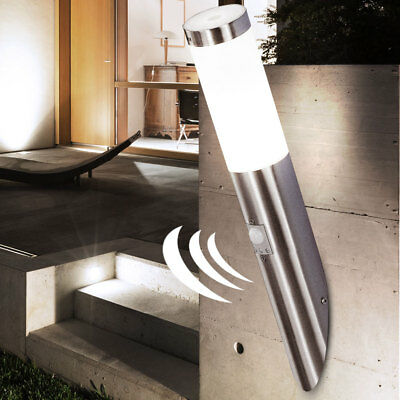 7W LED Outdoor Garden Light Wall Lamp Porch Stainless Steel IP44 Motion Modern
