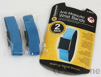 2 Anti Mosquito Wrist Band DEET Repellent Travel Bands Fly Insect Travel