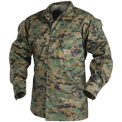 Helikon US Tactical USMC Mens Combat Shirt Military Jacket Digital Woodland Camo