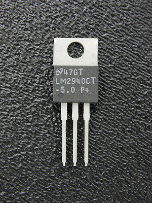 5V 1A POS LOW DROPOUT LINEAR VOLTAGE REGULATOR 5 PC NATIONAL SEMI LM2940T-5.0 P