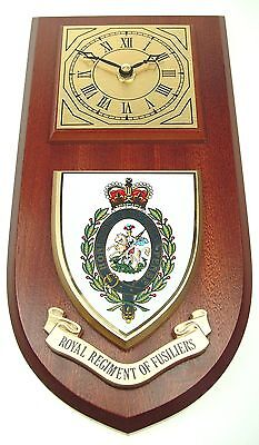 Royal Regiment Of Fusiliers Classic Style Hand Made To Order  Wall Clock