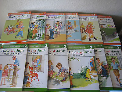 Dick and Jane Level 1 & Level 2 Readers (Set of 12) Ages 3-6 BRAND NEW