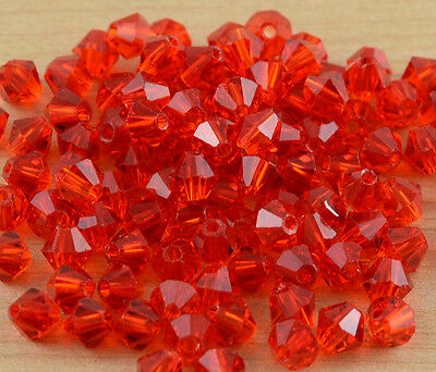 Free shipping DIY Jewelry 100PCS Swarovski Crystal 4mm 5301 Bicone Beads