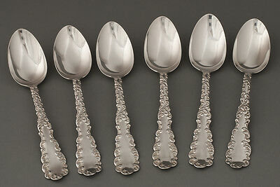 6 Teaspoons Sterling Silver Waverly pattern by Wallace 1890