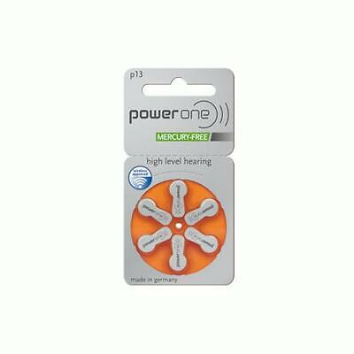 Power One High Level Hearing Aid Batteries (QTY 60)  Size 13