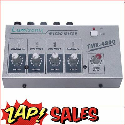 7% Off! 4 Input Microphone Mixer - FAST SHIP FROM SYDNEY