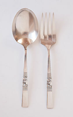 Community Morning Star casserole spoon cold meat serving fork  silverplate