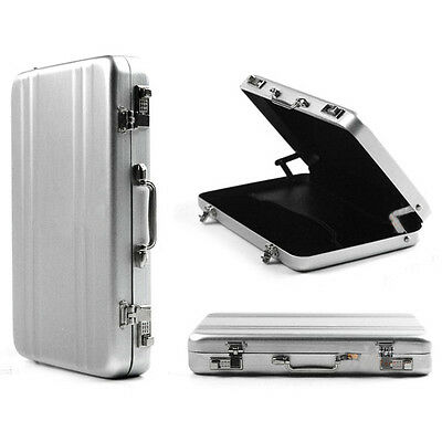 Aluminum Metal Password Briefcase Business ID Credit Card Holder Case Box Wallet