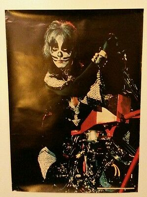 KISS 1977 PETER KRISS 14-529 MOTORCYCLE POSTER AUCOIN PRO ARTS INC. MEDINA OHIO