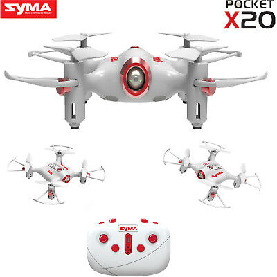 Syma X20 Pocket Drone 2.4G 4CH RC Quadcopter Headless Mode Altitude Hold