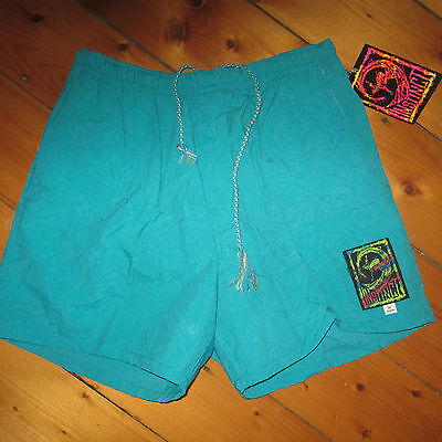 vintage 1990s NOS men 36 INSTINCT surfer LOGO boardshorts Lined Swim Suit trunks
