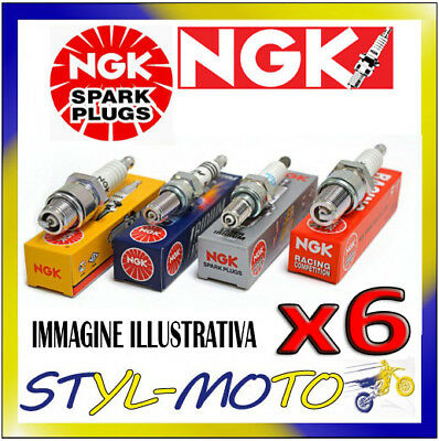 KIT 6 CANDELE NGK BP6E ALFA ROMEO 166 2.0 V6 Turbo Super 2.0 151KW AR34.102 2000