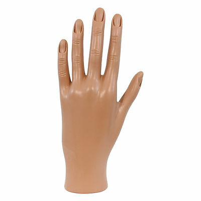 Practice/Display Hand Mannequin Soft Plastic Nail Art High Quality