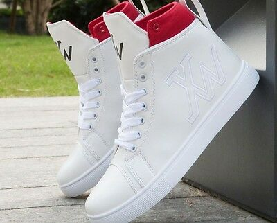 Fashion Men High Top comfortable Sneakers Korean Ankle Boots Casual Shoes US88.5