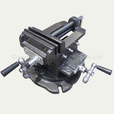 "402284 4"" Mechanical Swivel Base Cross Multi Direction Milling Bench Vice Clamp"