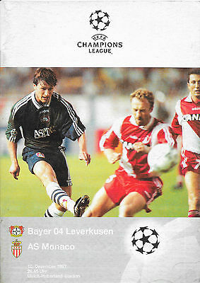 Bayer 04 Leverkusen v AS Monaco, 1997/98 - Champions League Match Programme