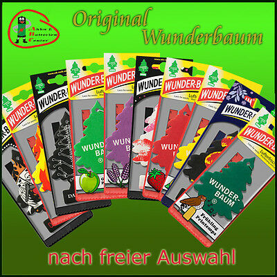 100 Pieces WUNDERBAUM air fresheners scented trees Sports-fresh Coconut Cherries