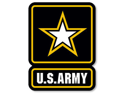 3x4 inch US Army Logo Sticker - decal soldier insignia gi military seal vet usa