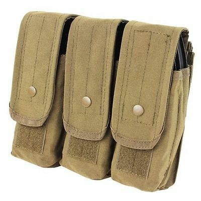 Condor MA33 Triple AR/AK Mag Pouch Holds up to 9 - 5.56 & 7.62 Mags Tan