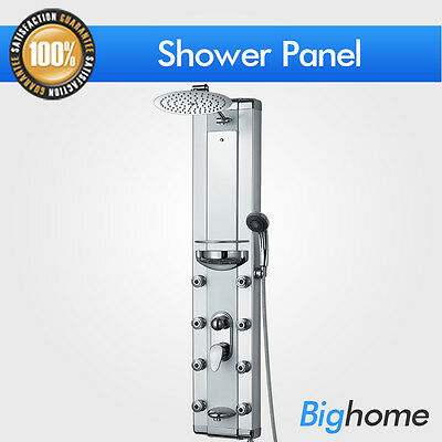 """Aluminum Glass Tub Spout Head Waterfall Shower Tower Panel Massage Jets 51""""Style"""