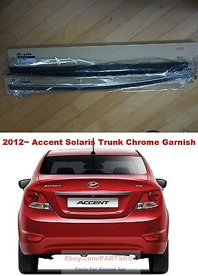 CHROME REAR GARNISH+TRUNK Lid For Hyundai Accent Solaris Verna 2011