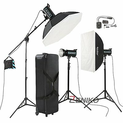 Godox 3X 600W Professional Studio Strobe Flash Light Kit For Wedding Fashion