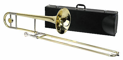 CLASSIC CANTABILE TENOR TROMBONE Bb BRASS INCL. CASE + MOUTHPIECE + CLEANING ROD