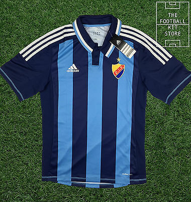 DIF Djurgarden Shirt - Genuine Adidas Swedish Jersey - Mens - Small
