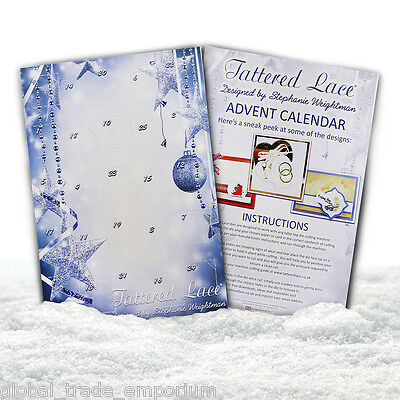NEW Tattered Lace ADVENT CALENDAR - Includes 25 Mini Cutting Dies - FREE UK P&P