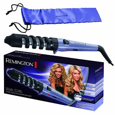 Remington CI63E1 Dual Hair Curling Tong with Storage Pouch Brand New