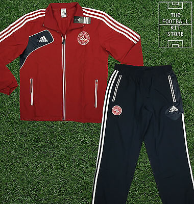 Denmark Presentation Tracksuit - Official Adidas DBU Suit - Mens - All Sizes