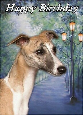 Whippet Dog Design A6 Textured Birthday Card BDWHIPPET-8 by paws2print