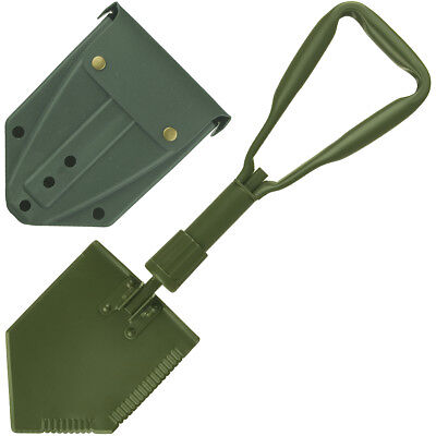 Us Army Strong Entrenching Tool Folding Shovel + Cover Military Camping Survival